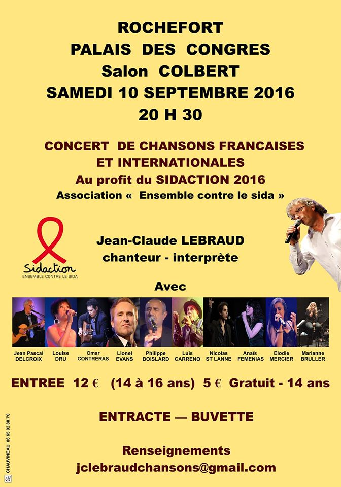 Affiches Concert Sidaction 2016 J-C Lebraud