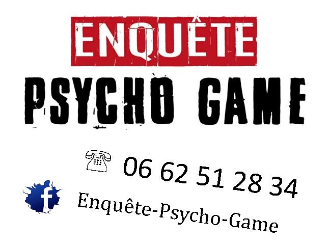 Visuel pour différents supports Enquête Psycho Game